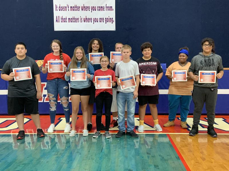 Student of the Month Award recipients