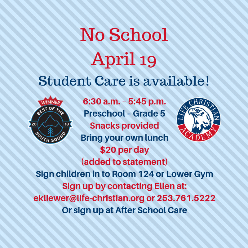 Student Care Available On No School Days Featured Photo