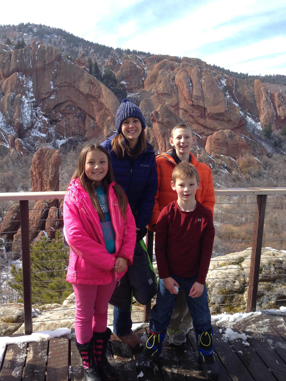 Hughes Family Hiking in Colorado