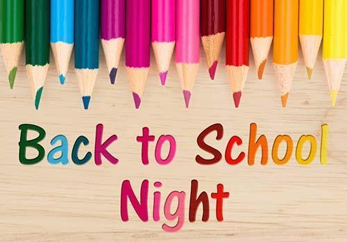 Back to School Night - Thursday, September 2nd , 5pm - 7pm Thumbnail Image
