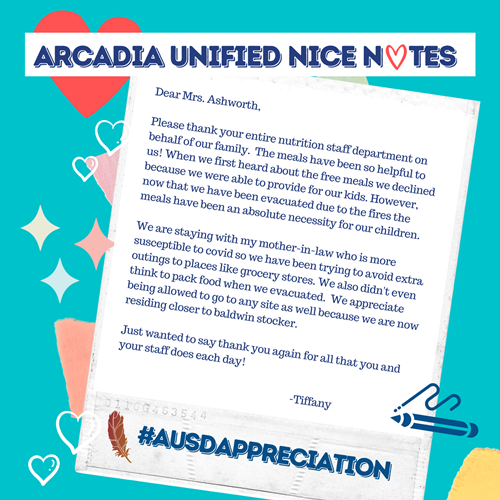 Arcadia Unified Nice Notes