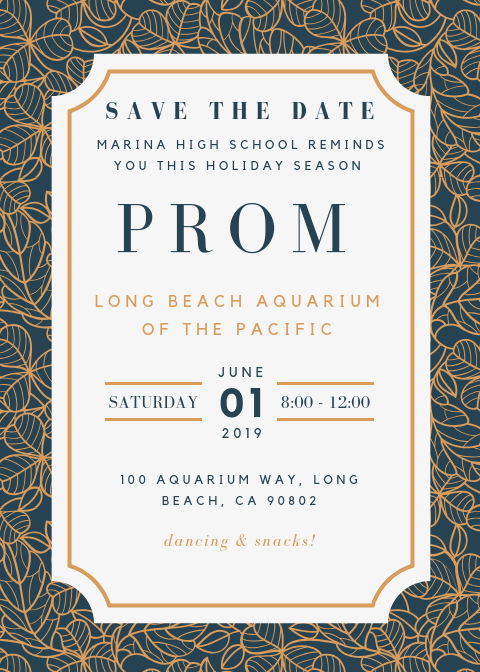 Prom 2019 - Save The Date! June 1, 2019 Thumbnail Image