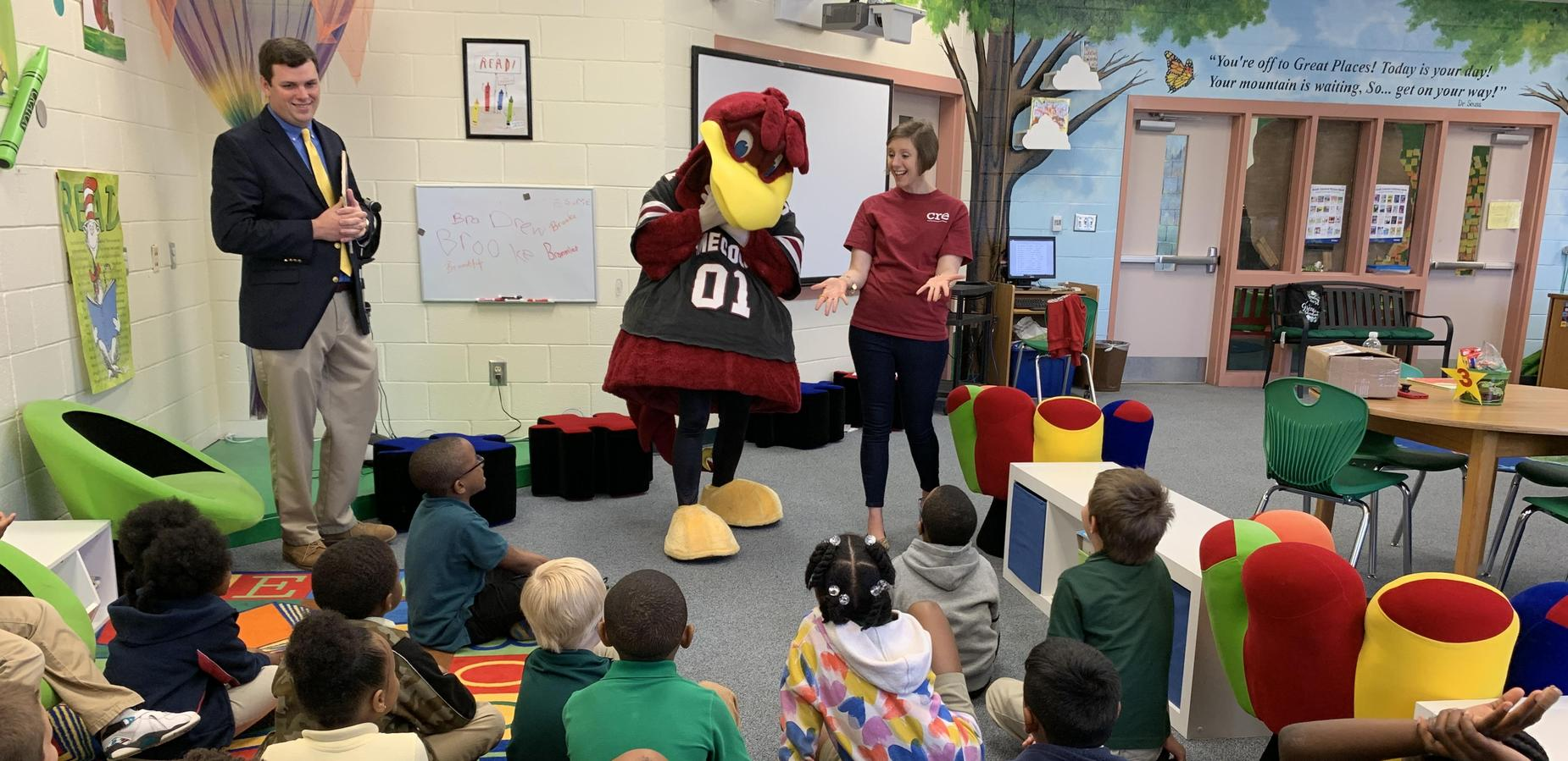 Cocky reading to 1st Grade