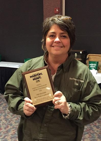 Ms. Kramer with her NWTF Award.