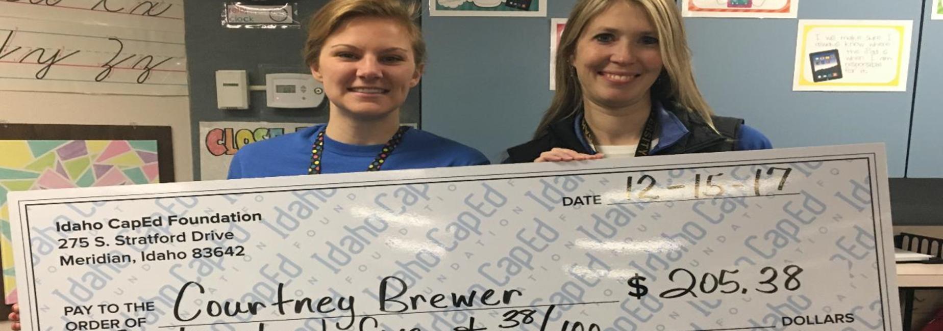 Brewer wins CapEd grant