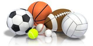 Several sports balls