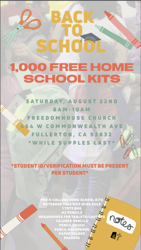 back to school kit giveaway flyer