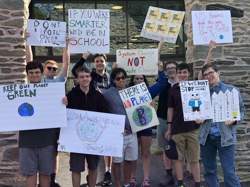 Students attend local climate strike Featured Photo