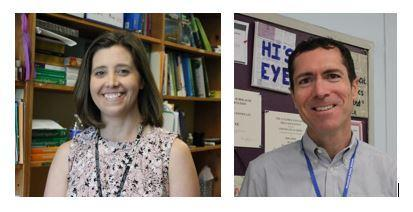 At its May 8 meeting, the Westfield Board of Education approved the appointment of Elizabeth Delasandro as Supervisor of K-12 Mathematics and Warren Hynes as Westfield High School Assistant Principal.  Pictured here are Delasandro and Hynes.
