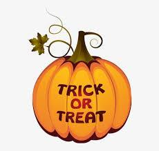 clipart of pumpkin with words Trick or Treat