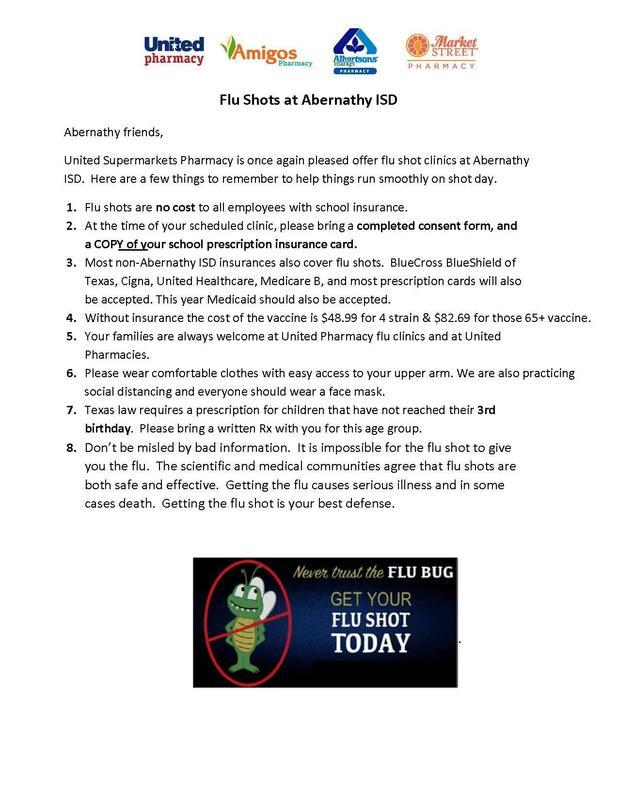 Flu Shots at Abernathy ISD Featured Photo
