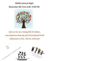 Cultural Night November 8th, 2018