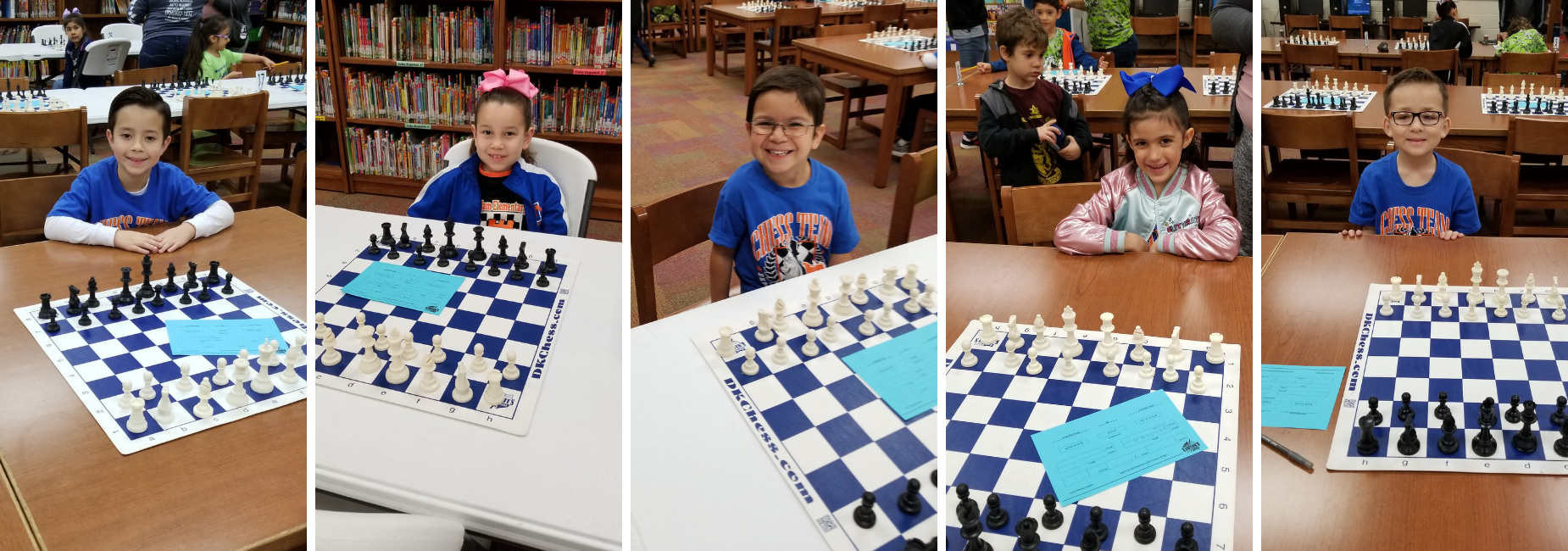 Milam Kinder and 1st grade chess players at tournament