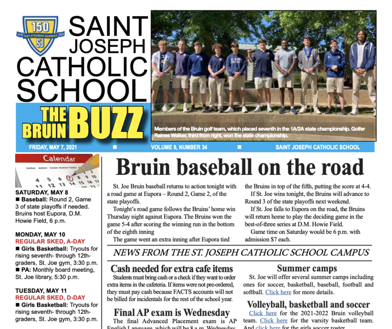 THE BRUIN BUZZ, FRIDAY, MAY 7 Featured Photo