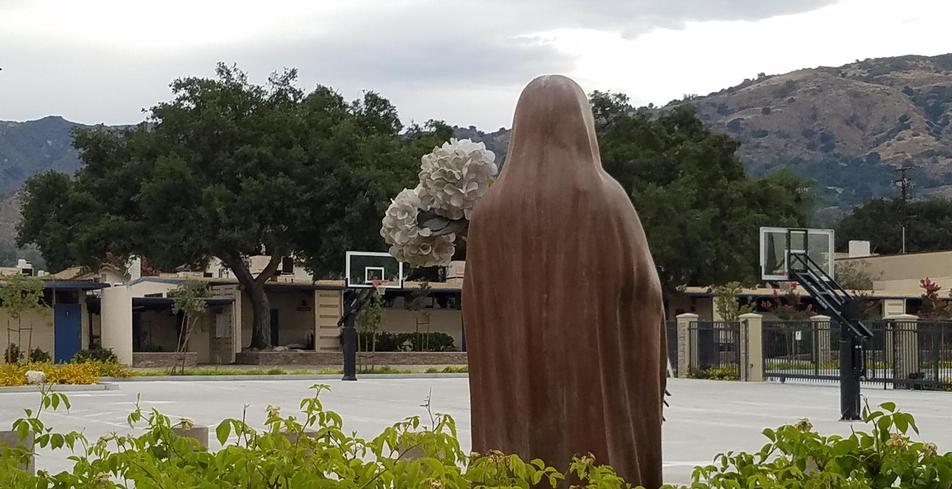 Mary facing the Foothills of Glendora