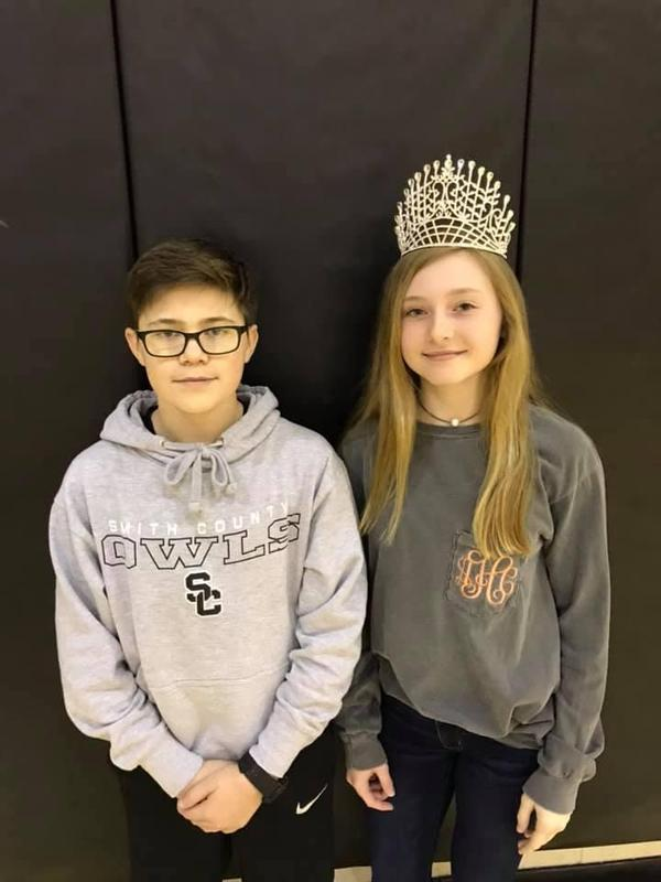 Miss Addison Hawkins and Mr Ethan Crockett are Mr and Miss SCMS for 2019! Featured Photo
