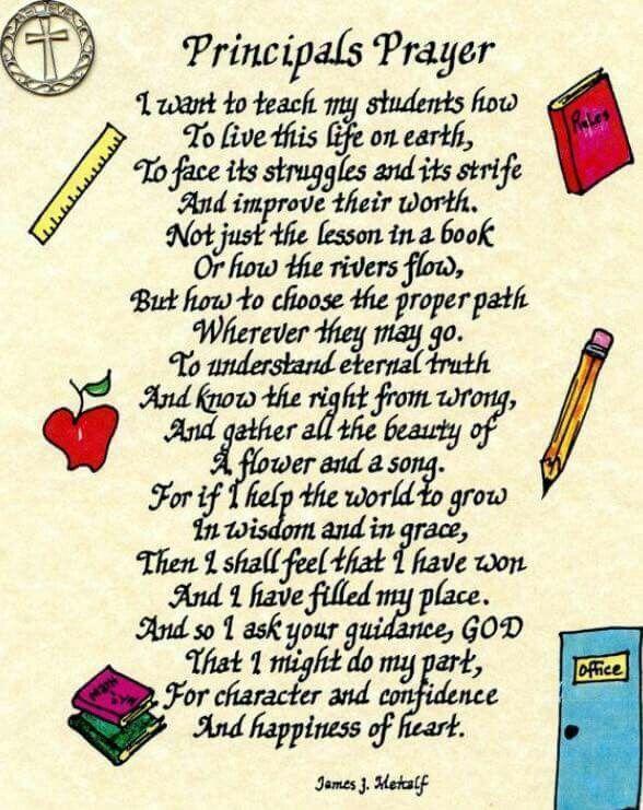 A Principals Prayer