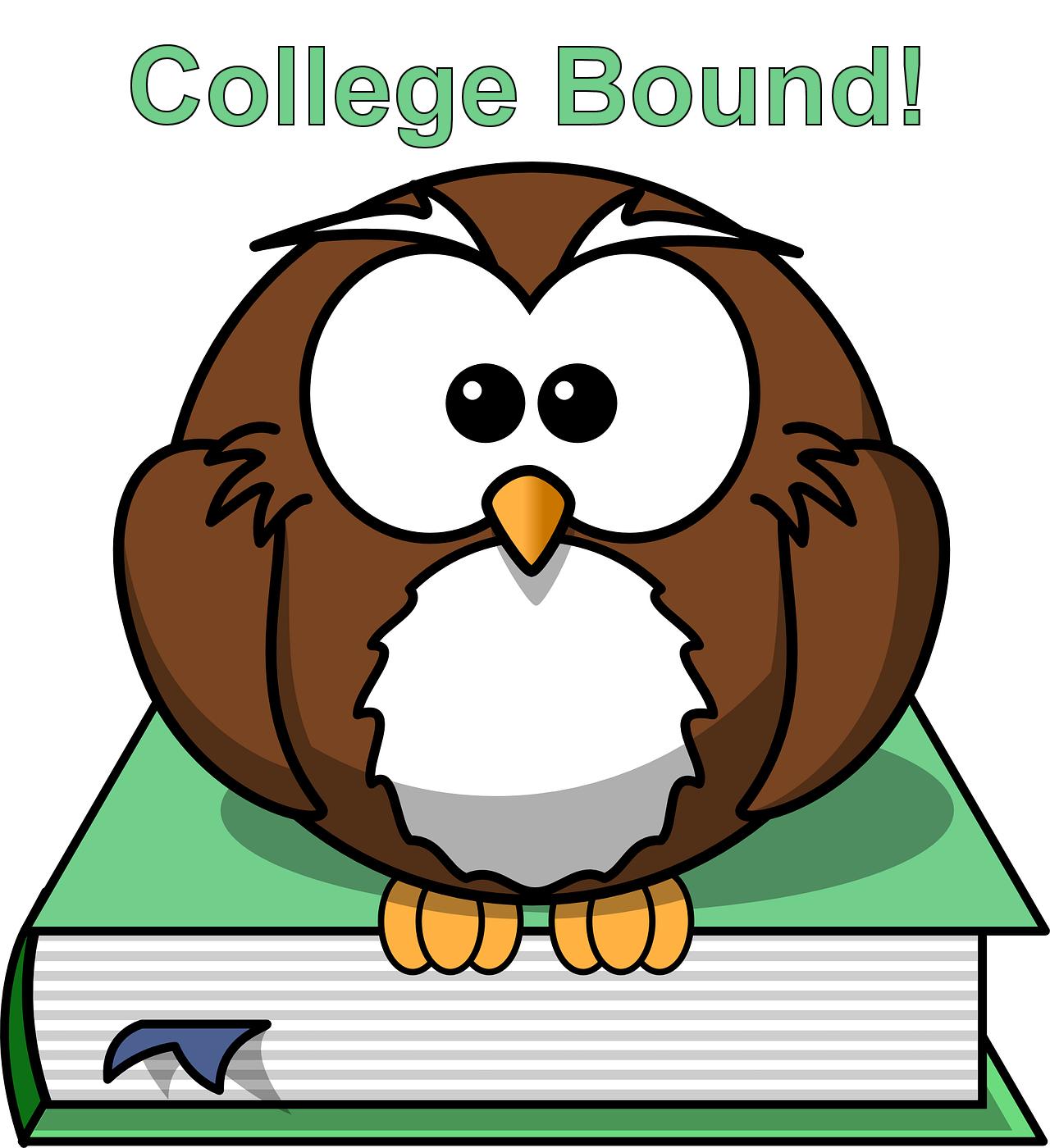 College Bound Circle with Graduation Cap