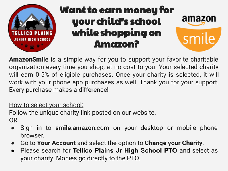 TPJHS round logo with amazon smile round logo