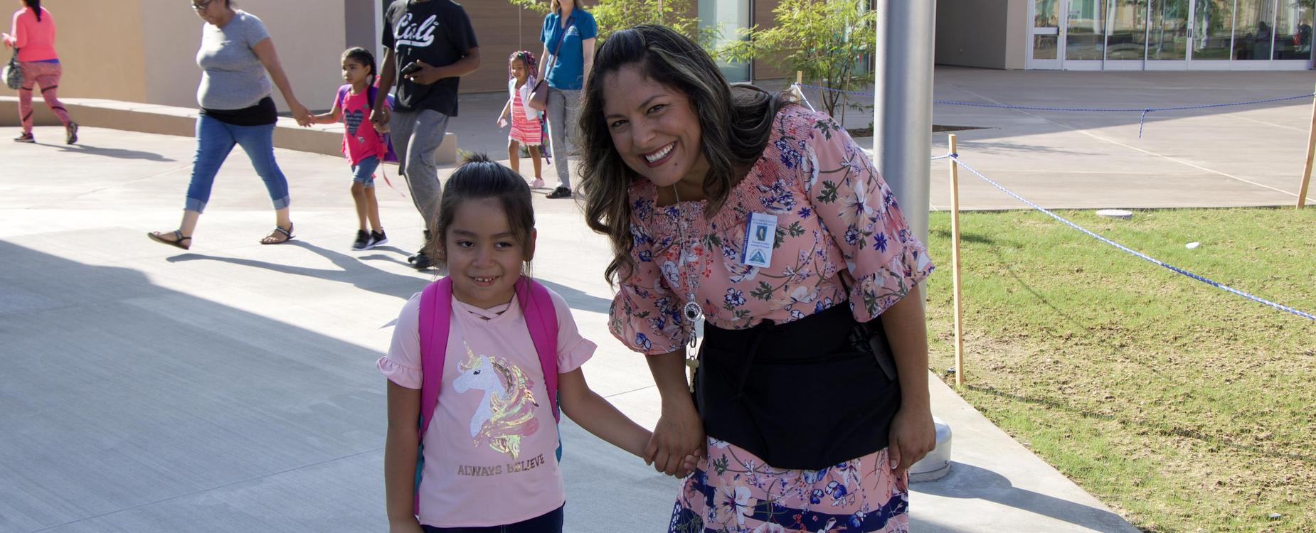 Assistant principal and student