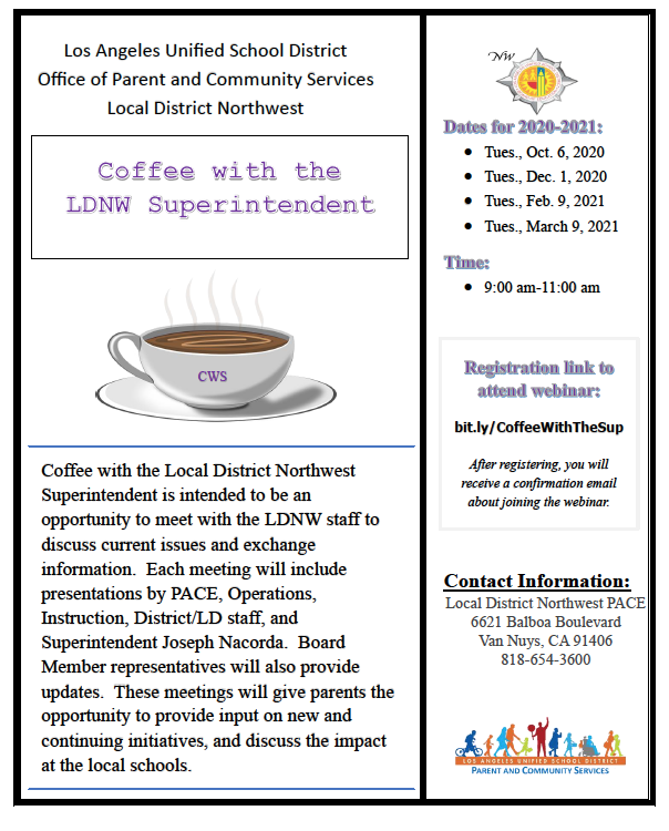 Coffee with the Superintendent Featured Photo