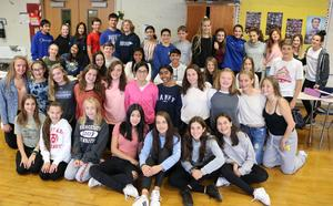Photo of student peer leaders at Edison Intermediate School.