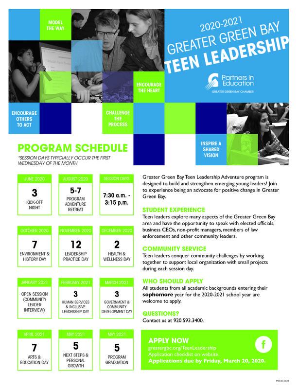 Teen Leadership Adventure poster