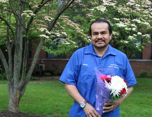 Photo of Westfield High School custodian Mario Arana.