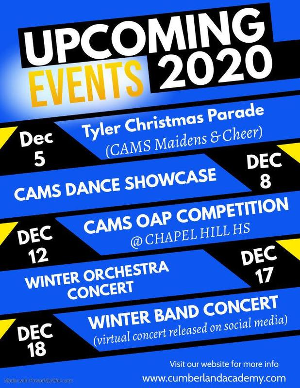 CAMS Upcoming Events For December Featured Photo