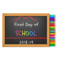 first day of school 18-19