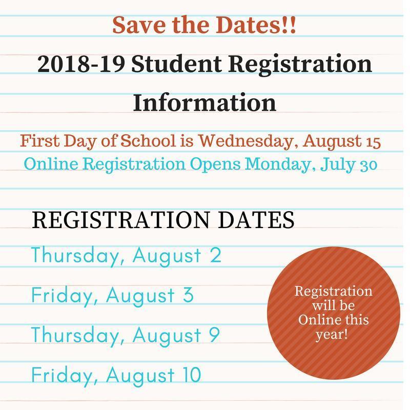 Student Registration 2018-2019 Thumbnail Image