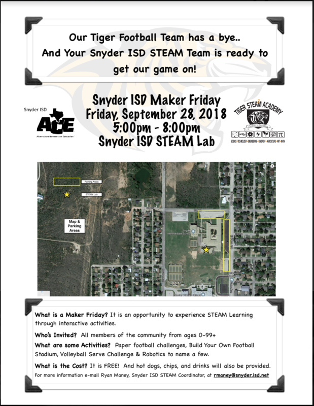 SISD Maker Friday! Featured Photo