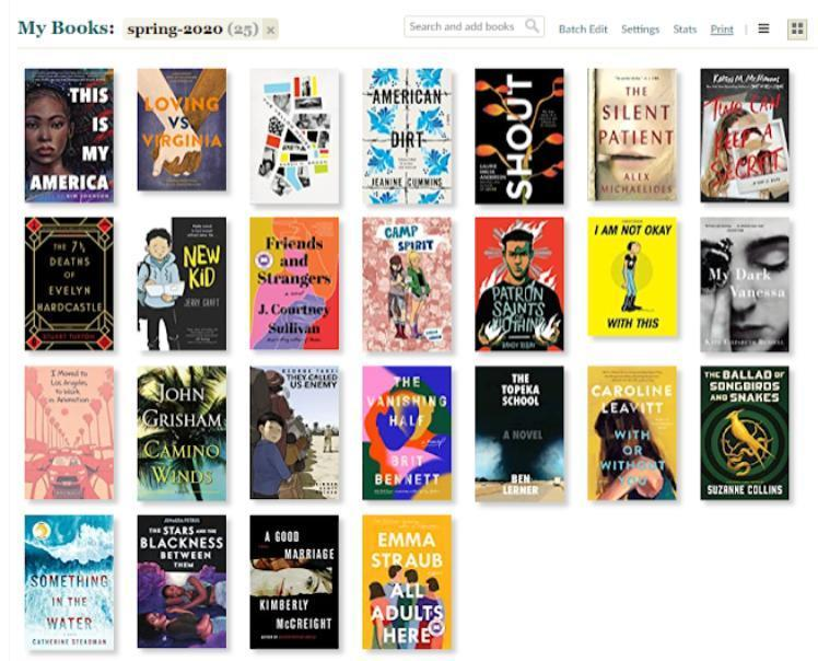 Goodreads Spring 2020 Reading List