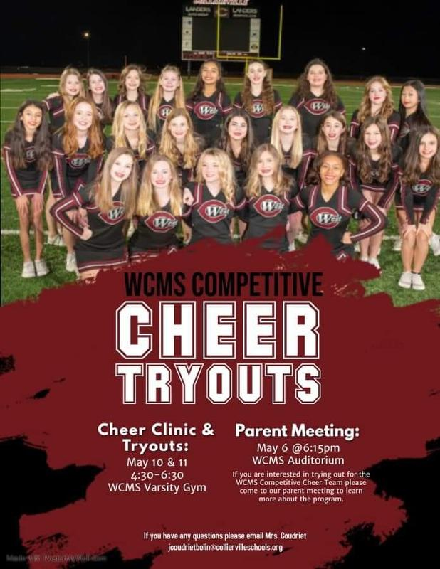 WCMS Competitive Cheer Try-outs 2021-2022 Featured Photo