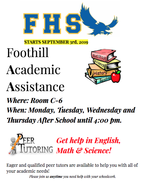 FHS Tutoring M-TH! Featured Photo