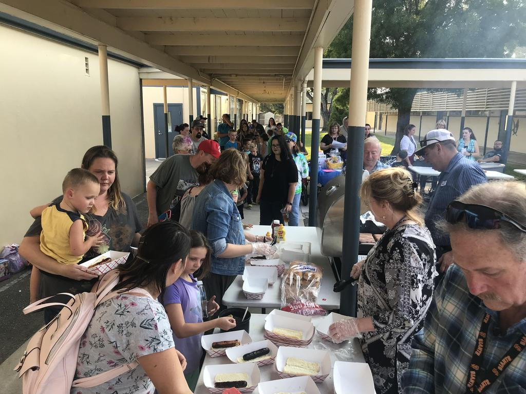 Back To School Night enjoying community.