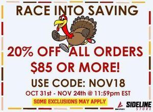 NOV18 discount code image
