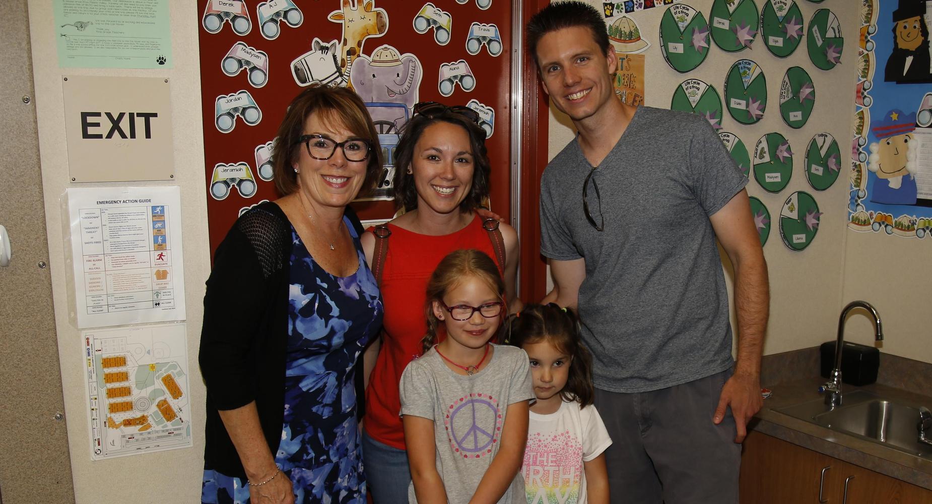 Teacher with family