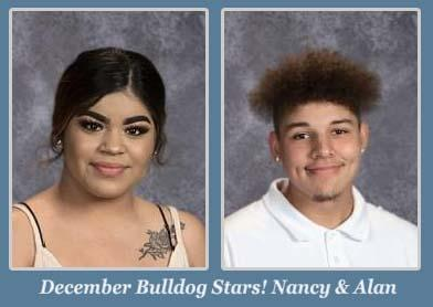 Nancy and Alan, December Students of the Month