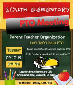 South PTO meeting