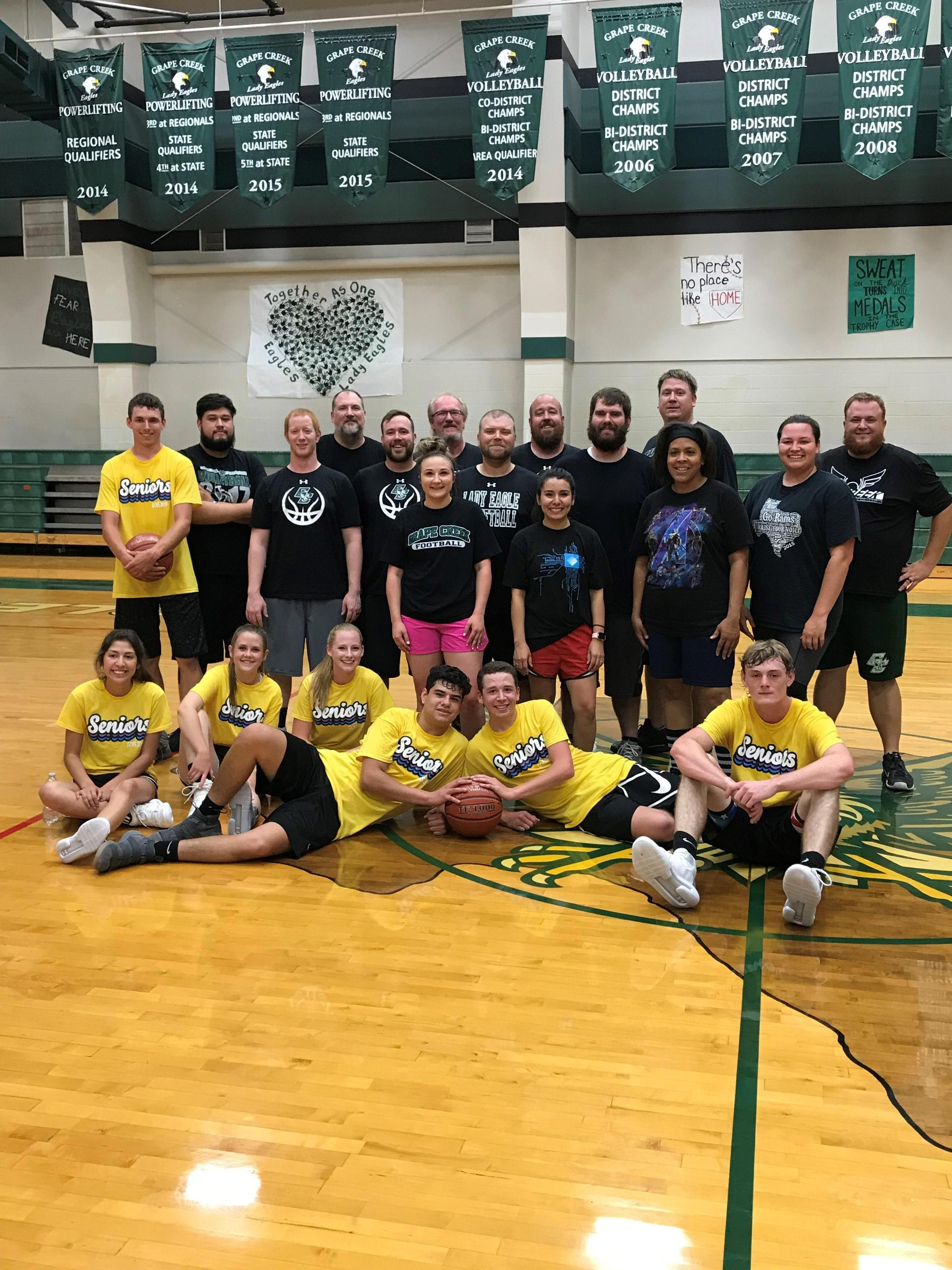 Grape Creek High Seniors - Faculty Annual Basketball Game