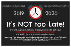 It's not too late - Schoolcafe
