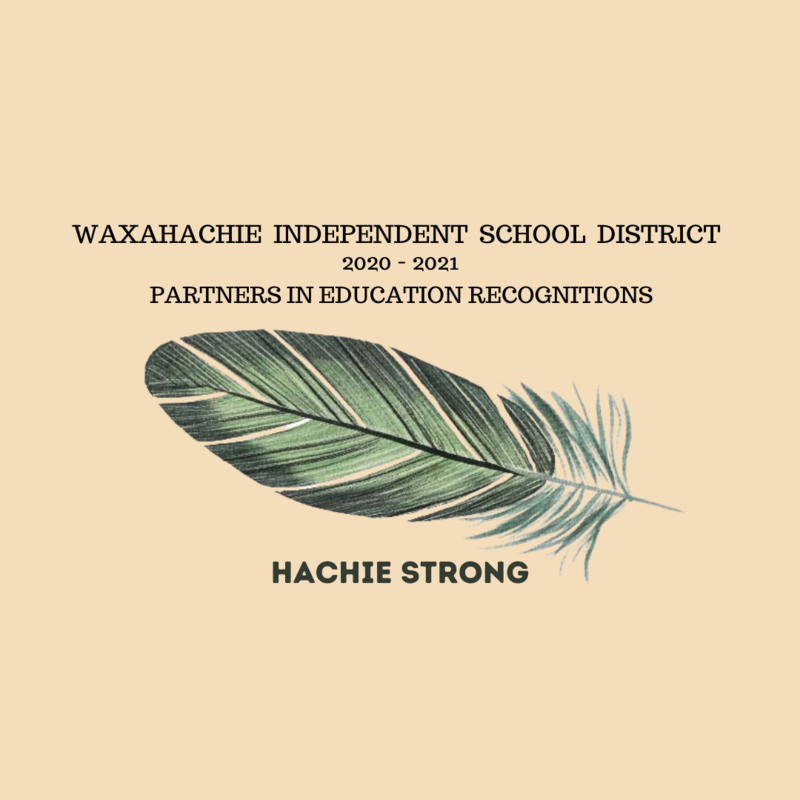 graphic reads WISD 2020-21 partners in education recognitions with image of a feather
