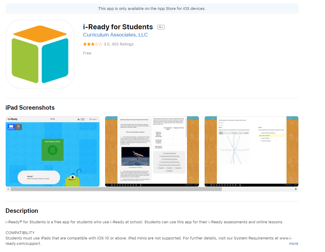 i-Ready for Students App