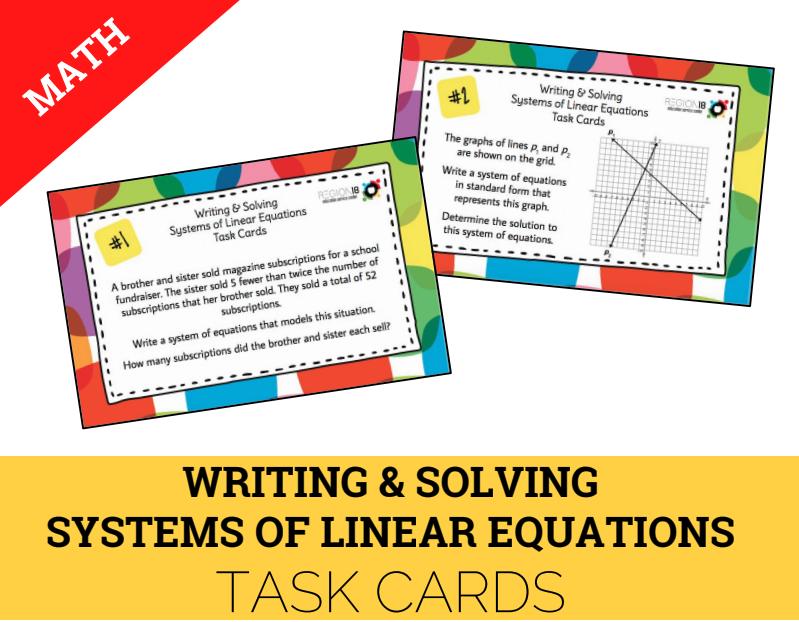 Algebra I EOC STAAR Review Activities - Programs & Services