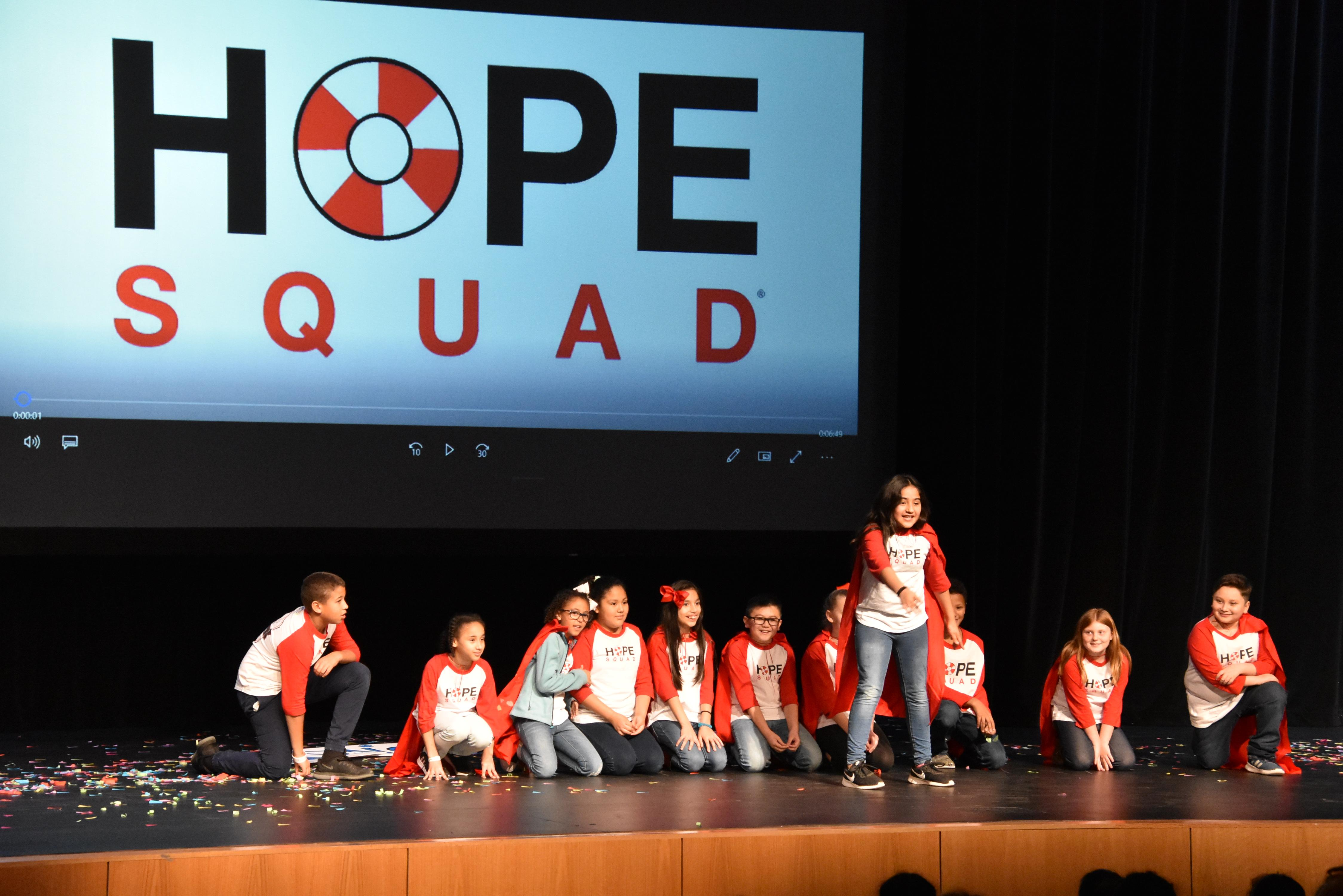 Blue Have Elementary HOPE Squad performs a skit.