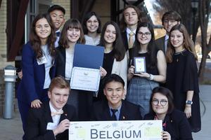 Belgium winning delegation