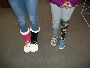 Wacky socks for Wacky Day!