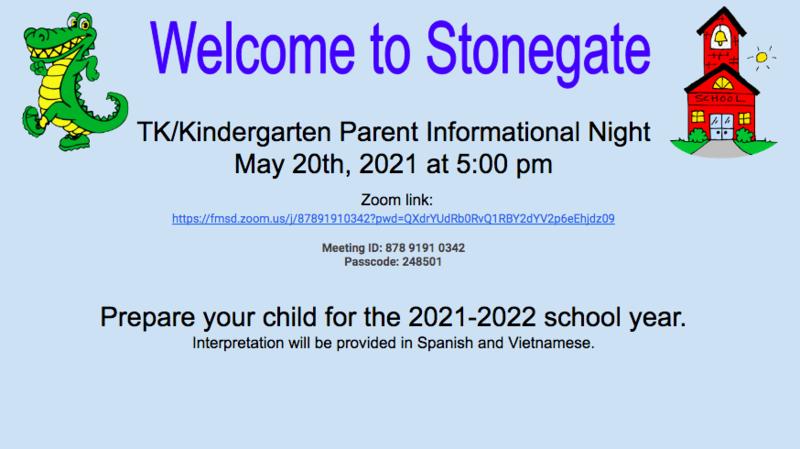 TK & Kinder Parent Information Night Thumbnail Image