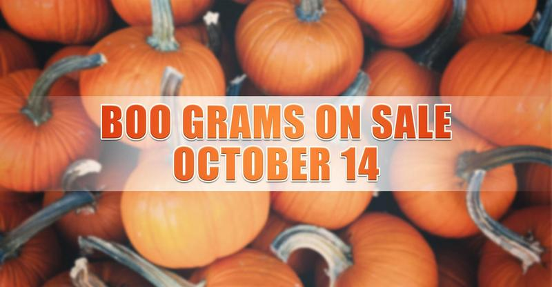 Boo Grams on Sale October 14